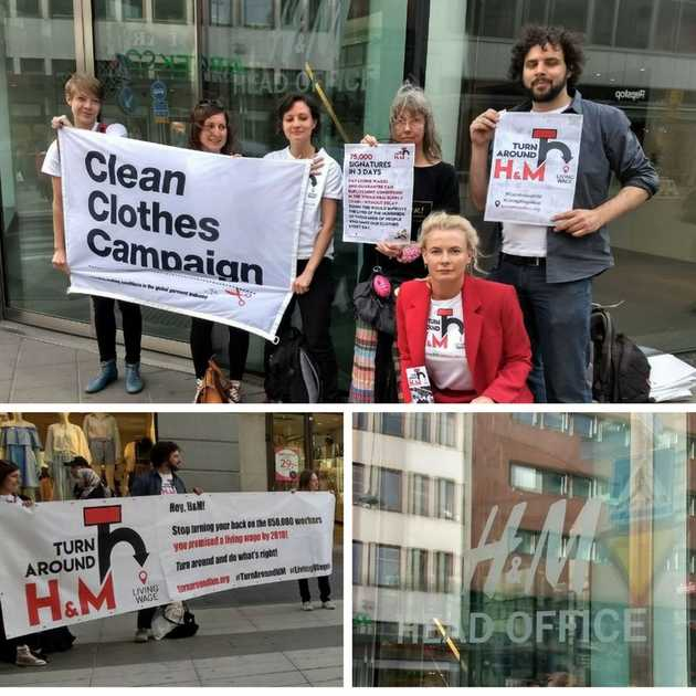 Activists at the H&M headquarters