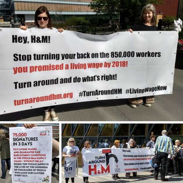 Activists at H&M annual shareholder meeting