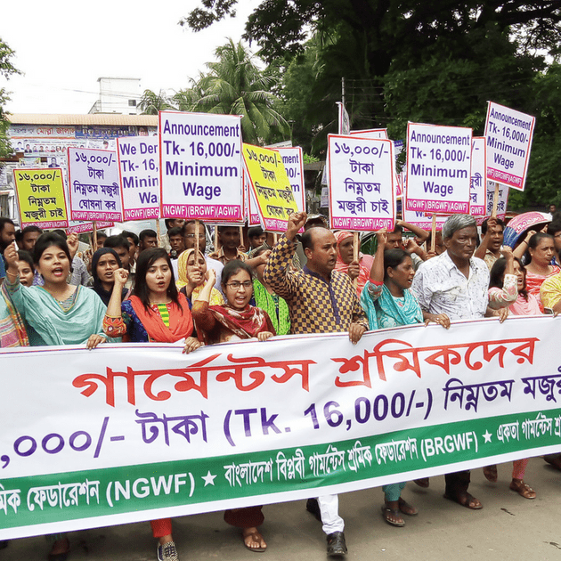 Wage protest July 5, 2018 in Bangladesh